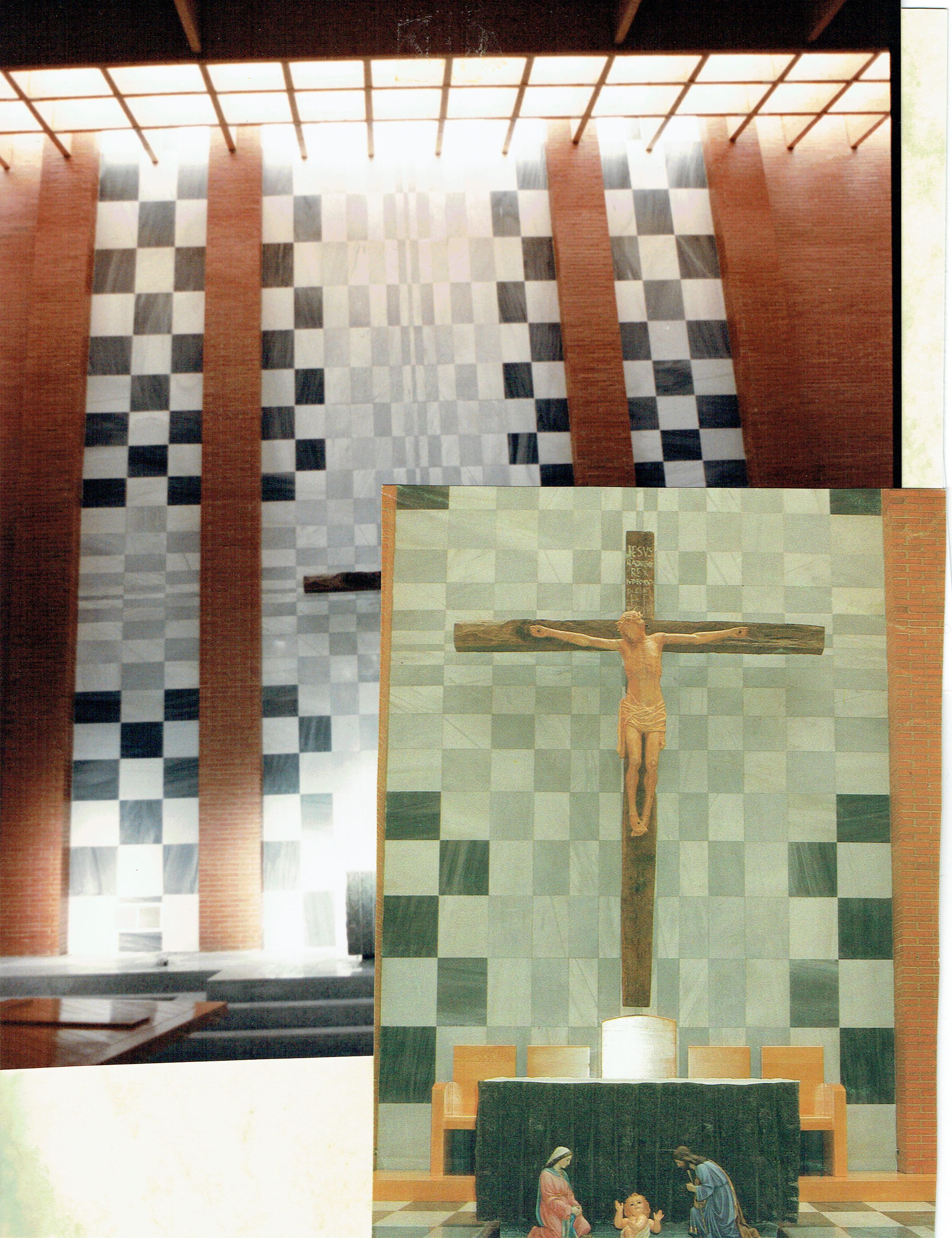 Mosaico del altar de la Iglesia del Perpetuo Socorro, Mérida